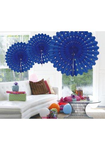 Honeycomb Fan Donker Blauw - 45cm