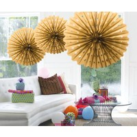 Honeycomb Fan Goud - 45cm