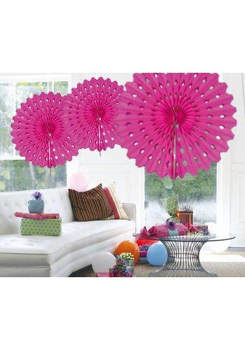 Honeycomb Fan Hot Pink - 45cm