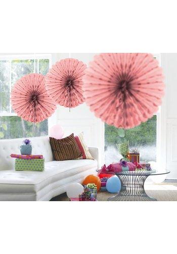 Honeycomb Fan Licht Roze - 45cm