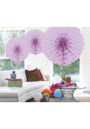 Honeycomb Fan Lila - 45cm