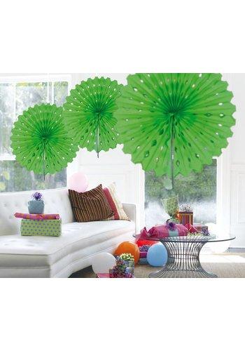 Honeycomb Fan Lime Groen - 45cm