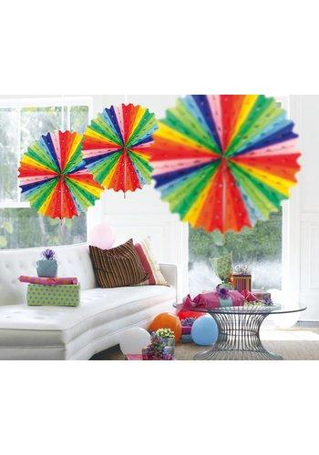 Honeycomb Fan Multi Color - 45cm