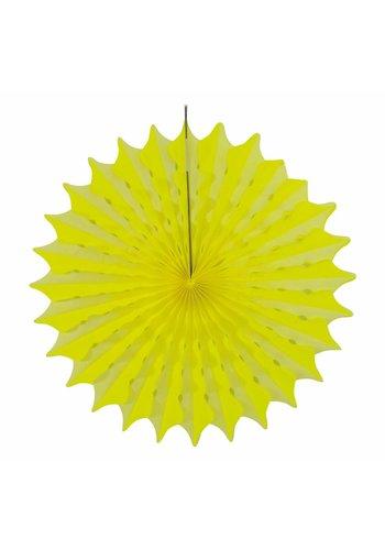 Honeycomb Fan Neon Geel - 45cm