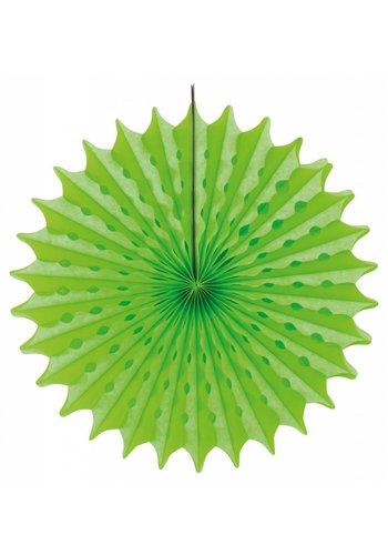 Honeycomb Fan Neon Groen - 45cm