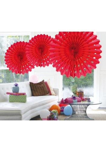 Honeycomb Fan Rood - 45cm