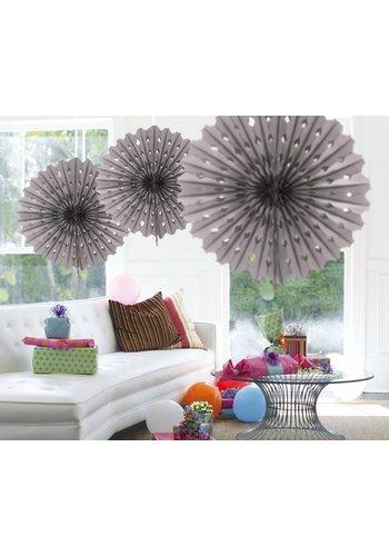Honeycomb Fan Zilver - 45cm