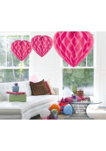 Honeycomb Hart - Hot Pink - 30cm