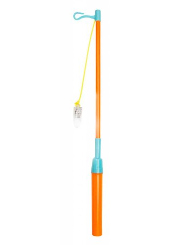 Lampion stokje LED - Oranje/Blauw