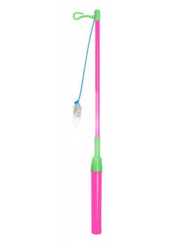 Lampion stokje LED - Pink/Lime