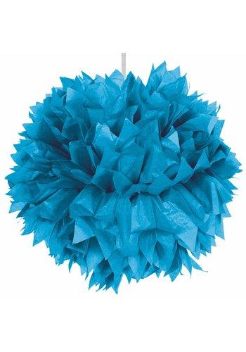 Pompom Blauw - 30cm