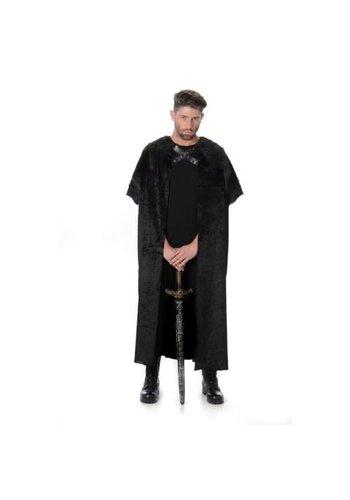 Black Fur Cape (One Size)