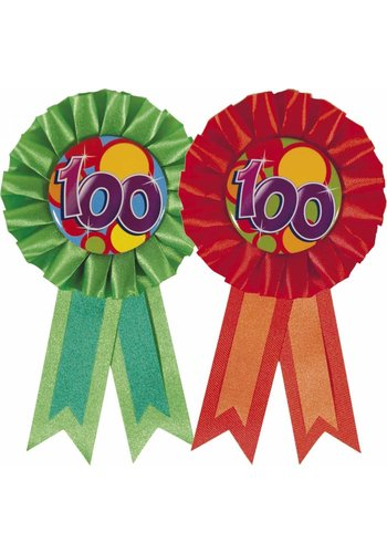 Rozet 100 - Groen of Rood