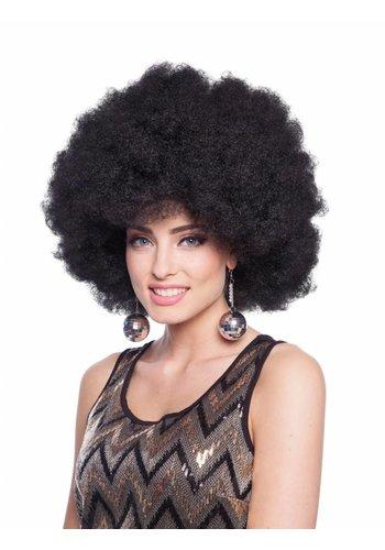 Afro Pruik - Zwart