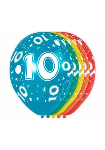 Ballonnen 10 - 30cm - 5 stuks