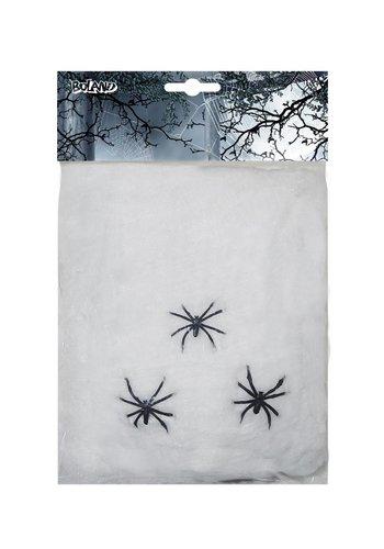 Spinrag Wit - 20g - met 3 spinnen