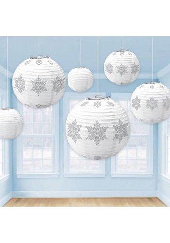 Lampionnen Sneeuwvlokjes - 6 stuks
