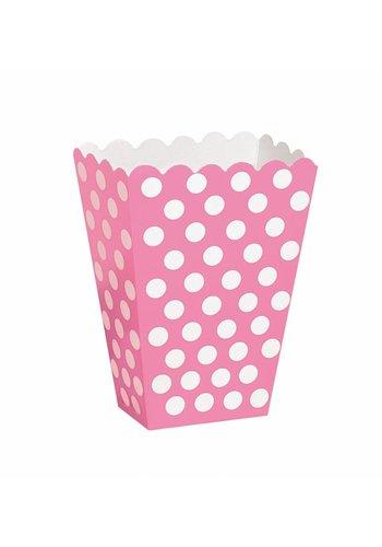 Uitdeel Box Dots Hot Pink 14,5cm - 8 stuks
