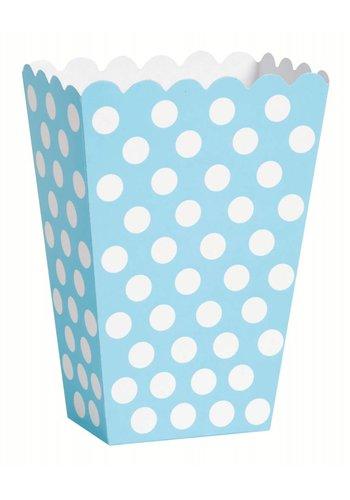 Uitdeel Box Dots Licht Blauw 14,5cm - 8 stuks
