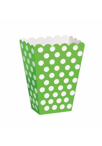 Uitdeel Box Dots Lime Groen 14,5cm - 8 stuks