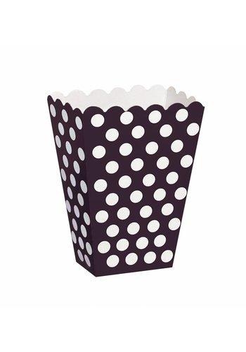 Uitdeel Box Dots Zwart 14,5cm - 8 stuks