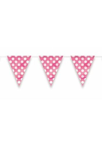 Vlaggenlijn Dots Pink - 3.65 meter