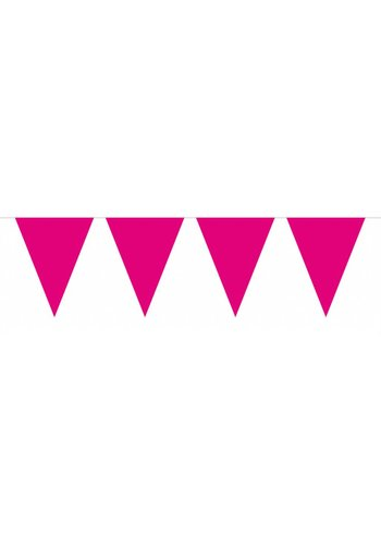 Vlaggenlijn Hot Pink - 10 meter