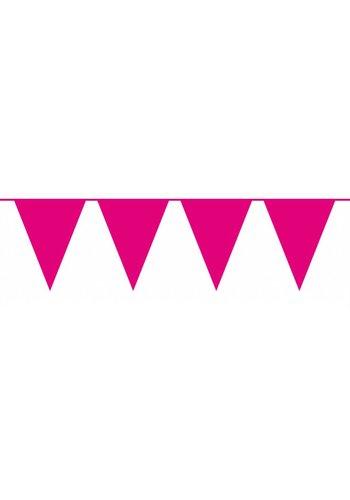 Vlaggenlijn XL Hot Pink - 10 meter