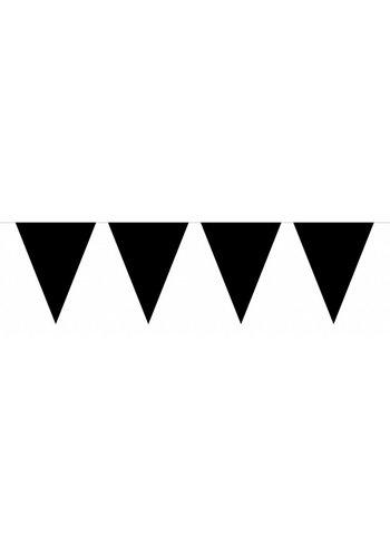 Vlaggenlijn XL Zwart - 10 meter - vlaggetjes: 30x45cm