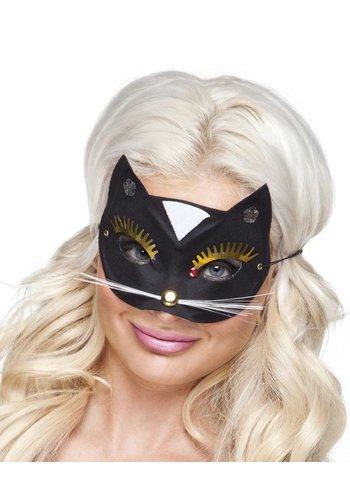 Oogmasker Kat - Zwart