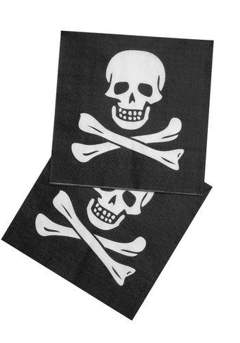 Piraten Servetten 33x33cm - 12 stuks