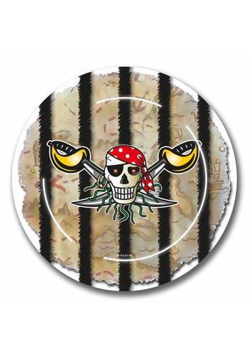 Piraten Bordjes 23cm - 8 stuks