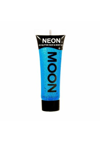 Neon UV Glitter Face & Body Gel - Blauw - 12ml