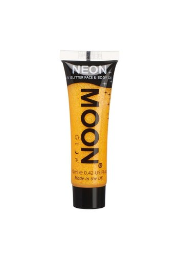 Neon UV Glitter Face & Body Gel - Goud/Geel - 12ml