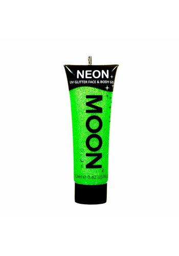 Neon UV Glitter Face & Body Gel - Groen - 12ml