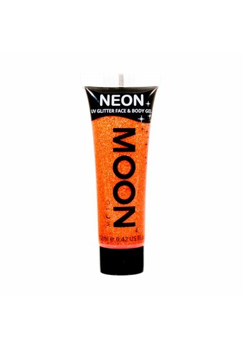 Neon UV Glitter Face & Body Gel - Oranje - 12ml