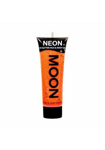 Neon UV Glitter Face & Body Gel - Oranje - 12ml