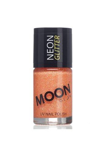 Neon UV Glitter Nagellak - Oranje - 14ml