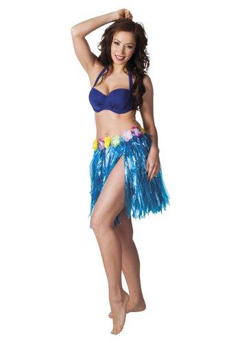 Hawaïrokje blauw (45 cm)