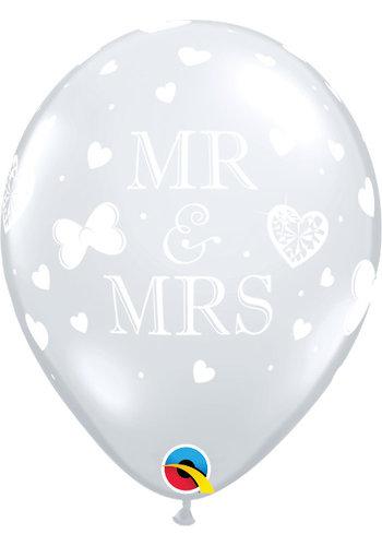 "11"" Mr & Mrs - Transparant (28cm)"