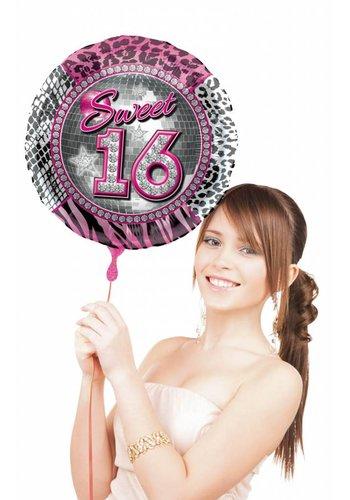 Folieballon - Sweet 16 Birthday - 45cm