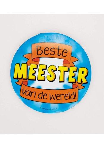 Button XL - Beste Meester Van de Wereld - 10cm
