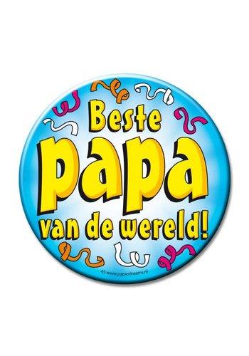 Button XL - Beste Papa van de wereld - 10cm