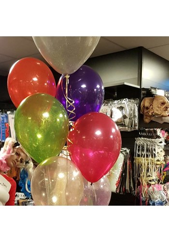 "11"" Gekleurde Glitter ballon"