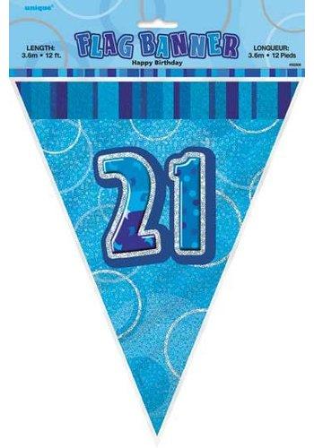 Blue Glitz vlaggenlijn 21 - 275cm