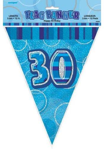 Blue Glitz vlaggenlijn 30 - 275cm