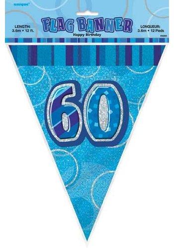 Blue Glitz vlaggenlijn 60 - 275cm