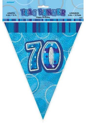 Blue Glitz vlaggenlijn 70 - 275cm