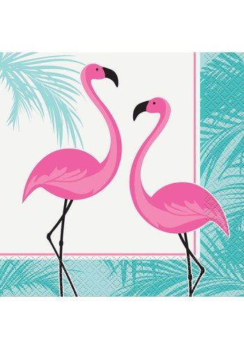 Flamingo Servetten - 16 stuks - 33x33cm
