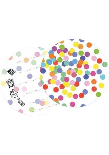 Confetti Uitnodigingen - 6 stuks